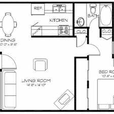 Rental info for 674ft2 - 1 Bed 1 Bath on Lake /Stadium