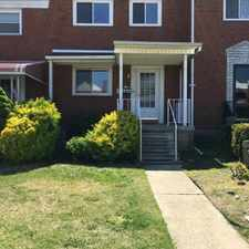 Rental info for Newly renovated home with spacious rooms, hardwood floors, central AC, parking pad and deck. Appliances including washer and dryer. Lead Free Certificate.