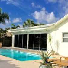 Rental info for SPACIOUS AND OPEN BEAUTIFL 3 BEDROOM 2 FULL BATH RENOVATED WATERFRONT POOLHOME in the Delray Beach area
