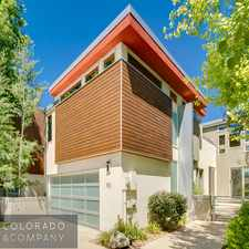 Rental info for 412 Harrison Street #A in the Cherry Creek area