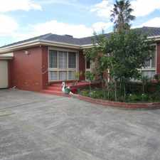Rental info for IMMACULATE VILLA IN CENTRAL OAKLEIGH in the Melbourne area