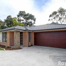 Rental info for Near New 3 Bedroom Plus Study Home