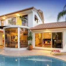 Rental info for PARTLY FURNISHED FAMILY HOME ON WIDE WATERFRONT IN BENOWA WATERS in the Gold Coast area