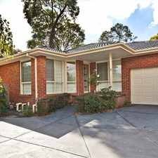 Rental info for 2 bedroom delight, close to Ringwood North shops (LEASED) in the Melbourne area