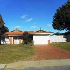 Rental info for LOVELY ESTABLISHED FAMILY HOME in the Perth area