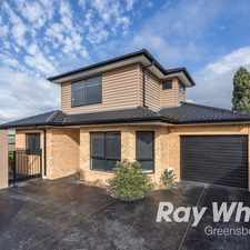 Rental info for Quality Townhouse in the Watsonia area
