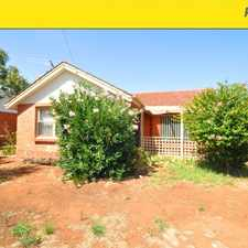 Rental info for 3 bedrooms, open plan kitchen/dining, full length verandah, reverse cycle air conditioning in the Elizabeth area