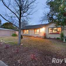 Rental info for Well appointed home with large backyard on corner block.