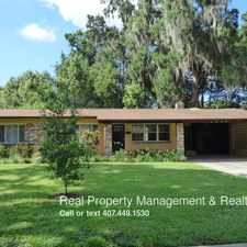 Rental info for 2320 Leu Rd. in the Orlando area