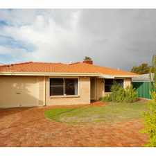 Rental info for REDUCED RENT... 3 GOOD SIZE BEDROOM....AIRCON, POOL, REMOTE CONTROL GARAGE in the Perth area