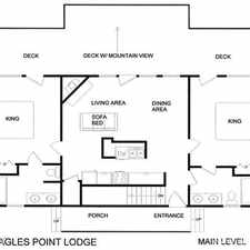 Rental info for Eagles Point Lodge 4 Bedrooms, View, Pool Access, Game Room, Sleeps 16