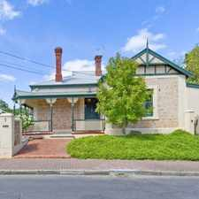 Rental info for CLASSIC CHARACTER RETURN VERANDA VILLA HOME - 3/4 BEDROOMS + CELLAR+ DOUBLE GARAGE in the Adelaide area
