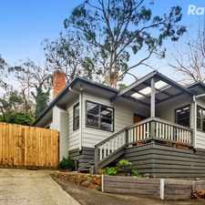 Rental info for Serene Living with Modern Edge, bi-monthly lawn mowing included in the Upwey area