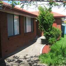 Rental info for QUITE LOCATION IN A COURT - CLOSE TO EVERYTHING in the Cairnlea area