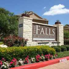 Rental info for The Falls at Westover Hills in the San Antonio area