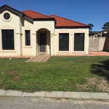 Rental info for WALK TO SCHOOL, LIBRARY AND SHOPPING in the Ellenbrook area