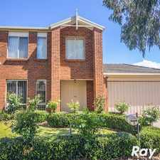 Rental info for IMPRESSIVE TWO STOREY HOME in the Melbourne area