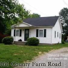 Rental info for 161 County Farm Road