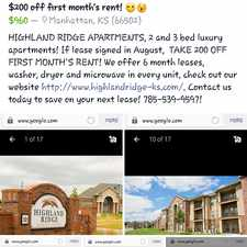 Rental info for Highland Ridge