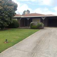 Rental info for 3 Bedroom Home plus rumpus room. Lease Pending in the Adelaide area