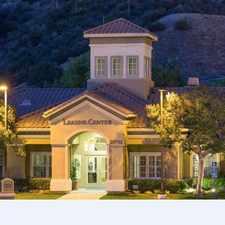 Rental info for Cortesia at Rancho Santa Margarita in the Rancho Santa Margarita area