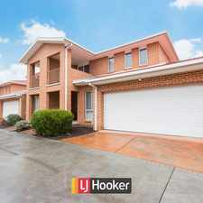 Rental info for Three Bedroom Ensuite Townhouse in the Canberra area