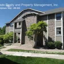 Rental info for 8378 S. Upham Way in the Columbine area