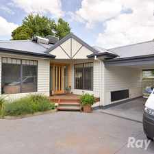 Rental info for A 3 year old, 3 bedroom, 2 bathroom rear unit in the Ferntree Gully area
