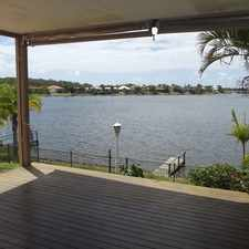 Rental info for WIDE WATER FRONTAGE - SPACIOUS FAMILY HOME in the Gold Coast area