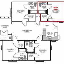 Rental info for Sublet 1BR in 4BR apartment @University Village at Clemson!