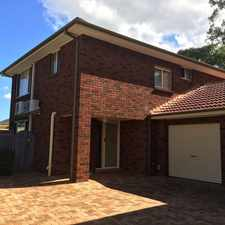Rental info for Lovely low maintenance town house in the Sydney area