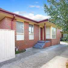 Rental info for MODERN UNIT IN GREAT LOCATION in the Melbourne area
