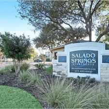 Rental info for Salado Springs Apartments in the San Antonio area