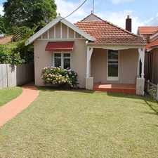 Rental info for Fantastic freestanding house with huge backyard. in the Mosman area