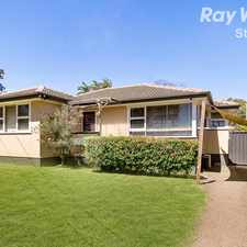 Rental info for 3 BEDROOM FAMILY HOME IN THE POPULAR SOUTH BLACKTOWN LOCALE