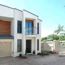 Rental info for Modern townhouse in rarely available complex in the Brisbane area