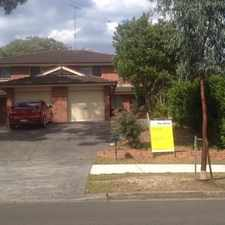 Rental info for LARGE 3 BEDROOM DUPLEX WITH ENSUITE in the Sydney area