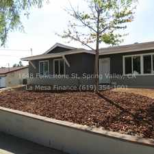Rental info for 1648 Folkestone Street in the Lemon Grove area
