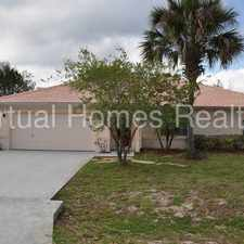 Rental info for spacious Luxurious Pool Home On Fresh Water Canal with Screened Patio!