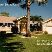 Rental info for 15251 Sam Snead Lane in the North Fort Myers area