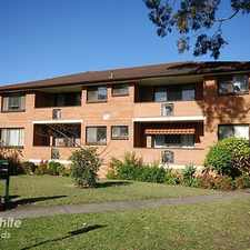 Rental info for NEAT AND TIDY 2 BEDROOM UNIT in the Sydney area