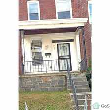 Rental info for Large 4 Bedroom Home for RENT in the Baltimore area