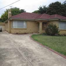Rental info for WELL PRESENTED, LOCATED AND SPACIOUS HOME in the Bentleigh East area