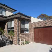 Rental info for AS NEW DESIGNER LIVING IN A GREAT LOCATION in the Melbourne area