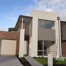 Rental info for Near new 3 bedroom executive home in Mirvac's Harcrest' estate in the Melbourne area