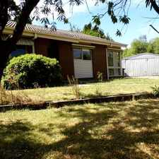 Rental info for 3BR BRICK HOME IN QUIET COURT in the Traralgon area