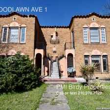 Rental info for 1505 WOODLAWN AVE 1 in the San Antonio area