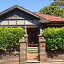Rental info for GRAND & stately character-filled period home in the Marrickville area