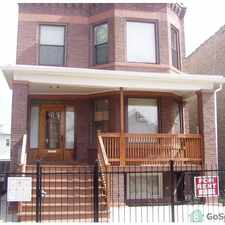 Rental info for 3-bedrooms, with dinning room, enclosed back porch, hardwood flooring, Security camers around this beautiful 2 flat in the West Humboldt Park area
