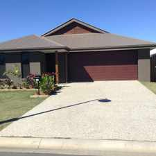 Rental info for GREAT NEAR NEW FAMILY HOME IN CENTRAL LAKES ADJACENT PARKLAND in the Brisbane area